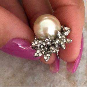 Banana Republic Diamonds & Pearls Floral Earrings